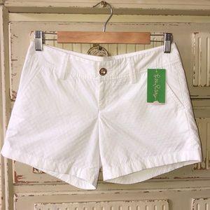 Lilly Pulitzer White Shorts sz 0 NWT